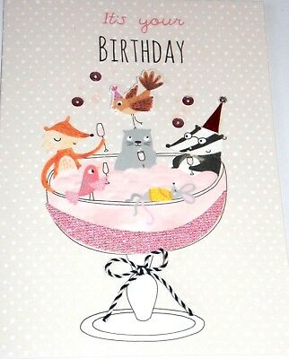 Happy Birthday Card Pelican Theme Bonbon Range by Second Nature Cards.