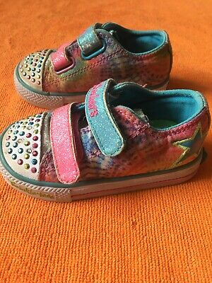 Kids toddlers girls Skechers twinkle toes size 5 infant