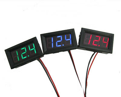 DC 0-30V 3 wire LED digital display panel volt meter voltage voltmeter car-mo HQ