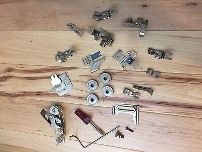 Large Lot VINTAGE SEWING MACHINE ATTACHMENTS & PARTS GREIST
