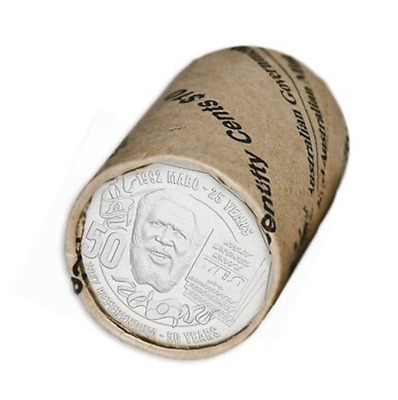 2017 Eddie Mabo Pride and Passion - 50 Cent Mint Coin Roll Australia