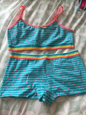 Primark Cotton Rich Crop Top And Boxer Set 11-12 Year New Without Tag