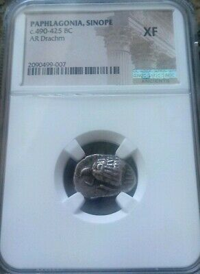 Paphlagonia, Sinope 490-425 BC Drachm NGC XF Ancient Silver Coin Rare!