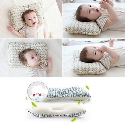 Newborn Baby Infant Soft Cotton Pillow Positioner Prevent Flat Head Anti Roll