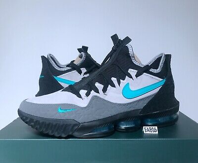 sale retailer f153a bb34b NIKE LEBRON JAMES 16 XVI Low X ATMOS Clear Jade CD9471-003 Black Elephant  Size