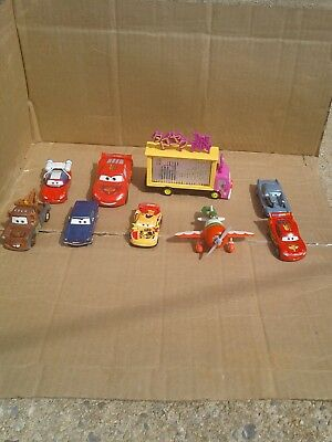 Mattel Disney Pixar Planes Cars Micro Drifters 9  Mini Drifters Lot GOOD CONDITI