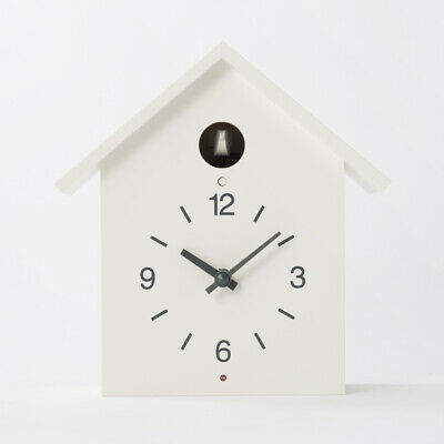 MUJI Mechanism of Cuckoo Clock Big White Wall Clock Large Table Clock NEW F/S