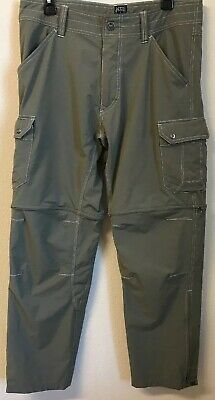 b49ce265ae4c1d KUHL Renegade Men's Size 34/32 Convertible Zip Off Hiking Pants Olive Green