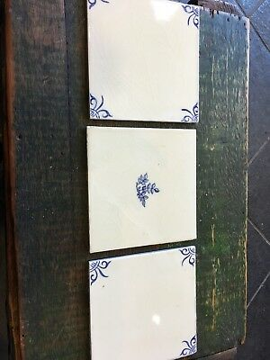 3 Vintage Thynne Hand Painted Tiles