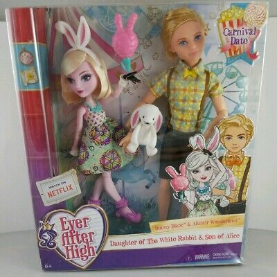 New Ever After High Carnival Date Doll Bunny Blanc and Alistair Wonderland