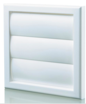 Blauberg Plastic Vent Back Draught Air Gravity Shutter Ventilation Grille 100 mm