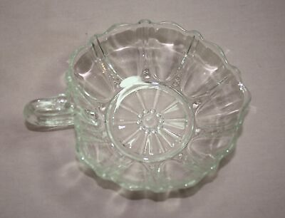 Vintage 40'S  Anchor Hocking Pearl & Oyster  Glass Bowl With Handle - U.s.a