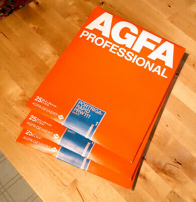 3 packs of Agfa Portriga-Rapid PRW 111 (glossy) #1, 8X10, 25 Photographic paper