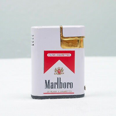 Marlboro Cigarettes Red Logo Vintage Gas Lighter Small Mini Size Promotional