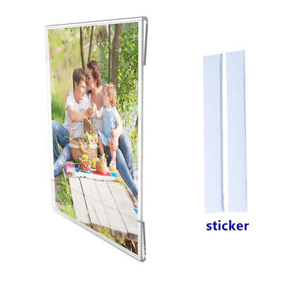 Clear Window Signs Plexiglass Acrylic Landscape Portrait Frame Wall Mount 12066