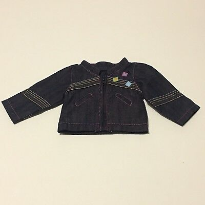 American Girl Doll On The Go Denim Jean Zipper Jacket Only