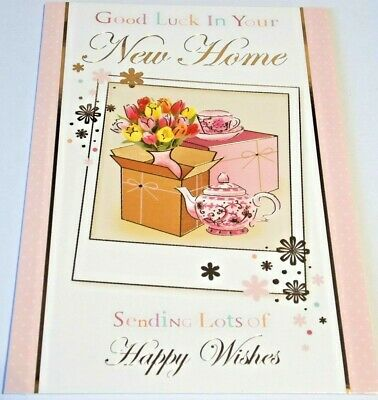New Home Card Home Sweet Home Range by Silverline Cards. House Key Theme