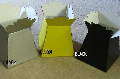 FLOWER BOXES/LIVING VASES CHOOSE A COLOUR  Free gift tag & ribbon