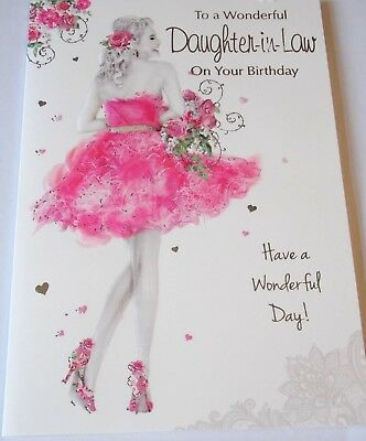 Daughter In Law Birthday Cards 5 Themes Available Heartstrings