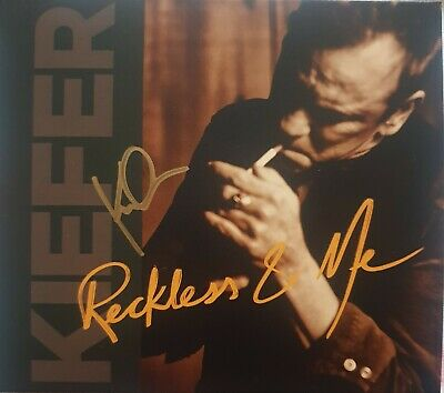 Keifer Sutherland 'Reckless and Me' cd album, hand signed in person by Keifer.