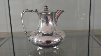 Superb Art Deco James Dixon Silver Plated Stylised Squat Hot Water Pot C 1920+