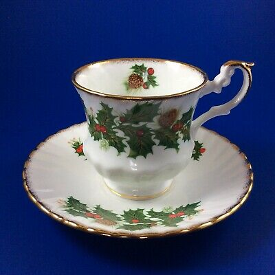 Rosina Yuletide Fine Bone China Tea Cup And Saucer