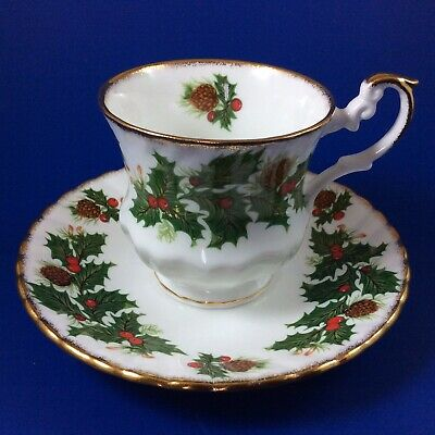 Rosina Yuletide Fine Bone China Tea Cup And Saucer - 2 Sets Available