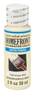 Homefront  Satin  Antique White  Hobby Paint  2 Oz. Pack Of 3