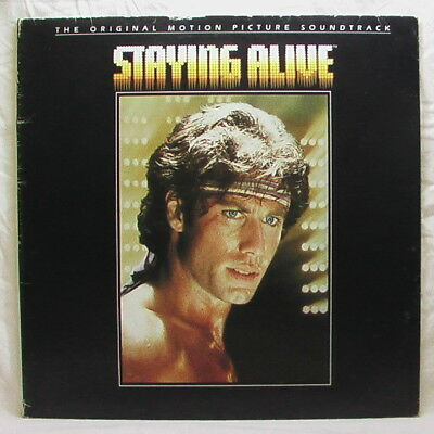 STAYING ALIVE Soundtrack BEE GEES STALLONE TRAVOLTA 1983 vinyl record LP vinile