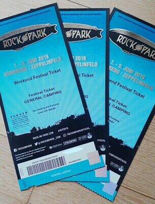3x Rock Im Park 2019 Weekend Festival Tickets (General Camping)
