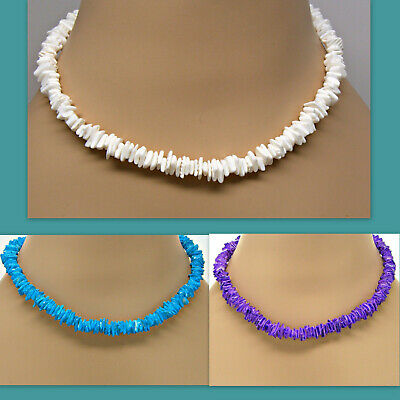 "Puka Shell Necklace 18"" 4 Color Choices Surf Festival Surfer Hawaiian Beach SUP"