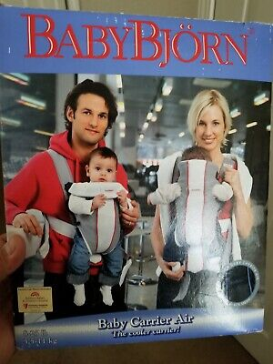 BABY BJORN White Gray Baby Carrier Air Mesh LIGHTWEIGHT Breathable 8-25 Lbs
