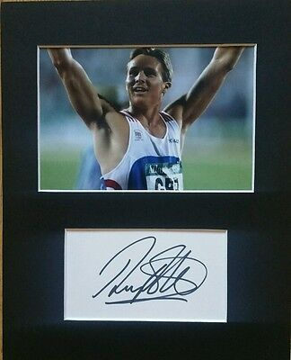 Sir Roger Black OBE 'Commonwealth Gold medalist', hand signed mounted autograph.