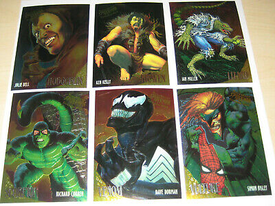 Spiderman Ultra Fleer Golden Web Set of 6 Cards Marvel Corben Bisley Julie Bell