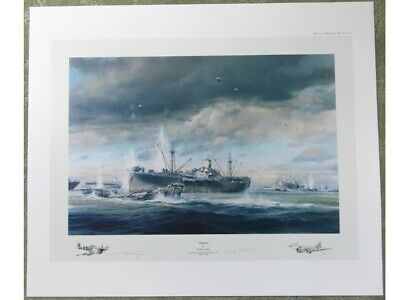 Robert Taylor D-Day Normandy Landings Counter signed by Stanier, Mint!