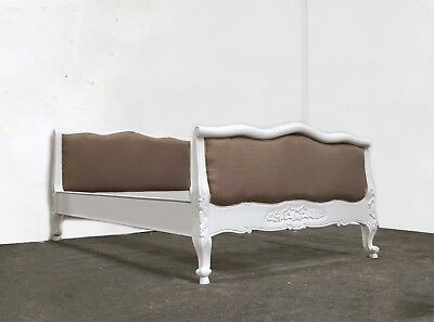 French Juliette Sleigh Double Bed White Shabby Chic Brand New