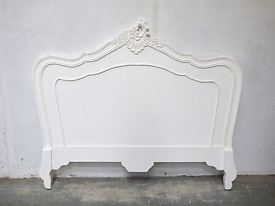 French Style Parisian Double Headboard White Distressed Shabby Chic