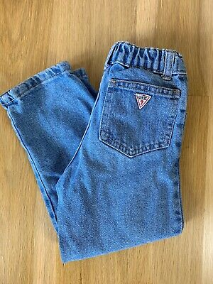 Vintage 80s 90s Guess Jeans Girls Denim Size 5 Medium Wash Made In USA