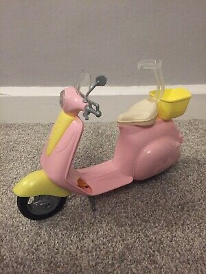 Barbie FRP56 Estate Mo-Ped Motorbike for Doll, Pink Scooter.
