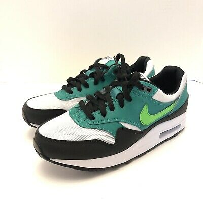 9128410154 Nike Air Max 1 GS Green Strike White Black Sneakers Size 7Y 807602-111 New