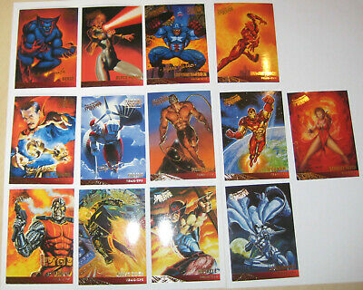 Spiderman Ultra Fleer Gold Foil Signature Team Ups Set of 13 Cards Marvel Falcon