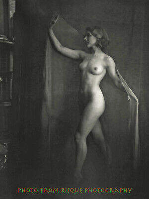"""Nude Woman Ghost 8.5x11"""" Photo Print Vintage Naked Female B&W Photography"""