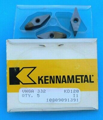 8PCS NEW KENNAMETAL 240942R00 KD120 INSERTS 4GC8489A-001-00-JC MADE IN USA TOOLS