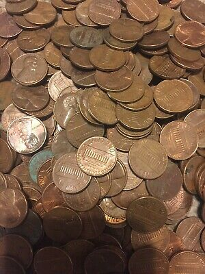 1 Lb 1959-1981 Mixed US Lincoln memorial Copper Pennies