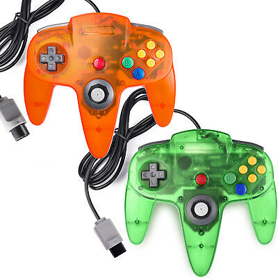Lot of 2 N64 Controller Joystick Wired For Nintendo 64 Console Mario Kart Games