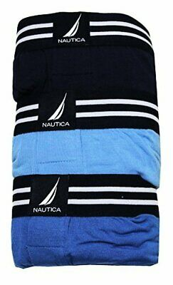 Nautica Mens Boxer Modal Cotton Fit W/ Functional Fly Tagless, 3 Pack (S,