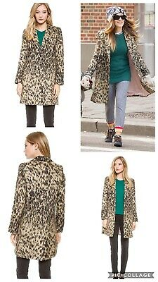 e71564e97358 SMYTHE LEOPARD ANIMAL Print Lab Coat Jacket US 2 4 - $170.10 | PicClick
