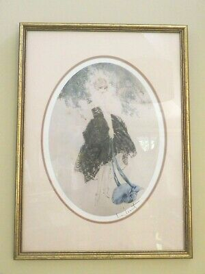 Art Deco etching Le Bonnet Bleu c1930s signed print by French artist Louis Icart