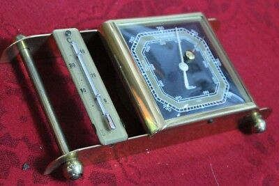 50s/60s Wettersstation Fischer Messing Thermometer Barometer