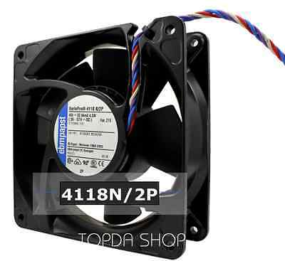 ebmpapst 4118N/2P High temperature resistance DC fan 48V 4.5W 120*120*38mm 4pin